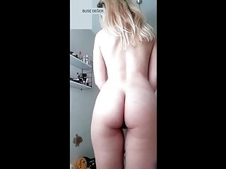 Turkish Buse young girl teasing naked on webcam